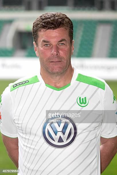 Coach Dieter Hecking at the team presentation of VfL Wolfsburg on July 30 2014 in Wolfsburg Germany