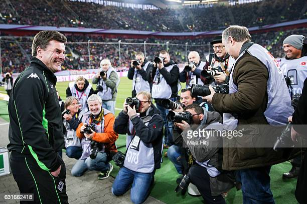 Coach Dieter Hecking of Moenchengladbach smiles prior Telekom Cup 2017 match between Borussia Moenchengladbach and 1 FSV Mainz 05 at EspritArena on...