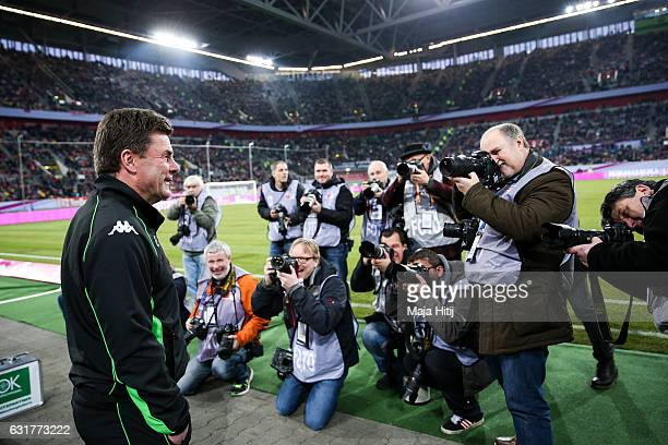 Coach Dieter Hecking of Moenchengladbach smiles prior the Telekom Cup 2017 match between Borussia Moenchengladbach and 1 FSV Mainz 05 at EspritArena...