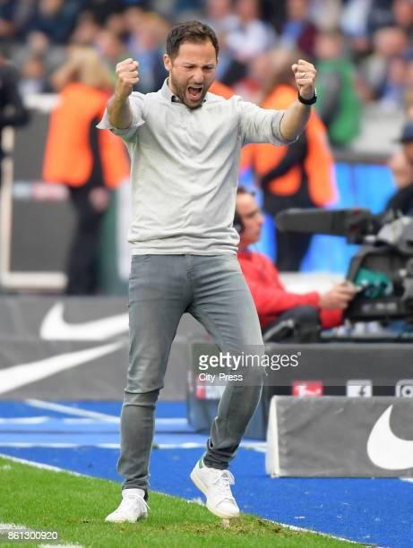coach Domenico Tedesco of FC Schalke 04 after the game between Hertha BSC and Schalke 04 on october 14 2017 in Berlin Germany