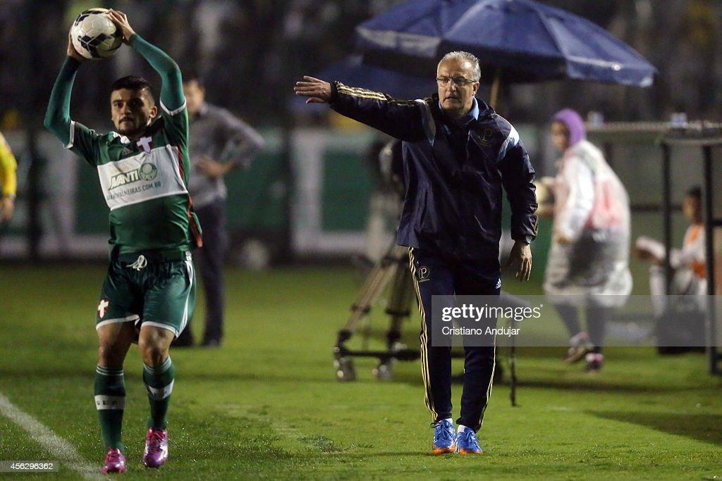 Coach Dorival Junior of Palmeiras in action during a match between Figueirense and Palmeiras as part of Campeonato Brasileiro 2014 at Orlando...