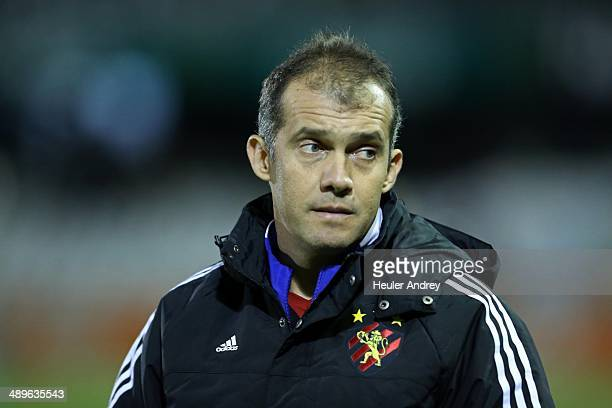 Coach Eduardo Baptista of Sport Recife during the match between Coritiba and Sport Recife for the Brazilian Series A 2014 at Couto Pereira stadium on...