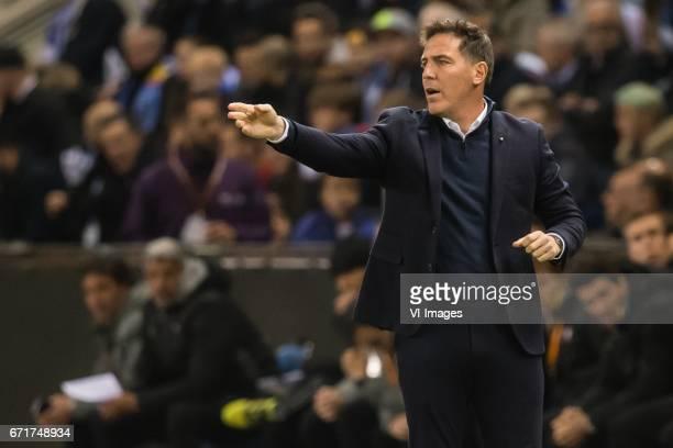 coach Eduardo Berizzo Magnolo of RC Celta de Vigoduring the UEFA Europa League quarter final match between KRC Genk and Celta de Vigo on April 20...