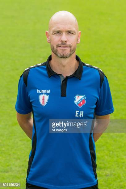 coach Erik ten Hag during the team presentation of FC Utrecht on July 22 2017 at Sportcomplex Zoudenbalch in Utrecht The Netherlands