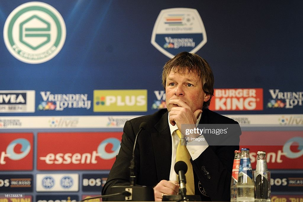 Coach Erwin Koeman of RKC Waalwijk, during the Dutch Eredivisie match between FC Groningen and RKC Waalwijk at the Euroborg on february 9, 2013 in Groningen, The Netherlands