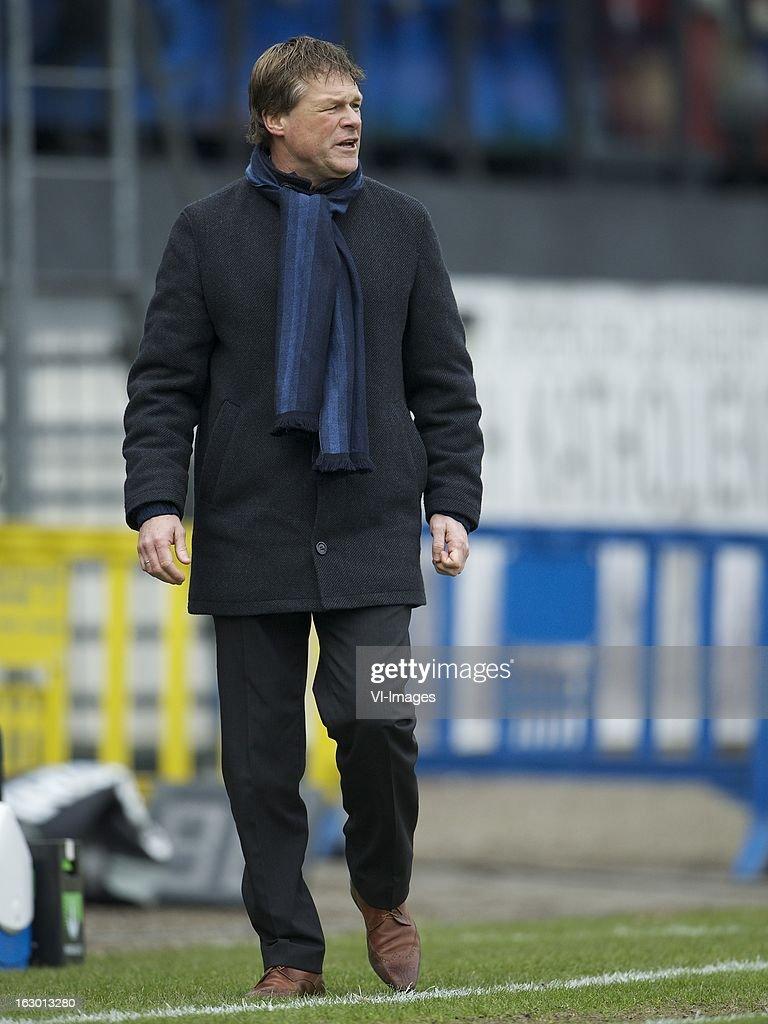 coach Erwin Koeman of RKC Waalwijk during the Dutch Eredivisie match between RKC Waalwijk and AZ Alkmaar at the Mandemakers Stadiumon march 03, 2013 in Waalwijk, The Netherlands