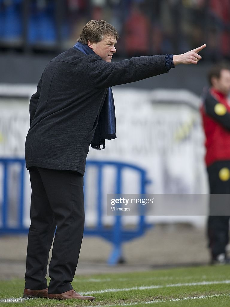 coach Erwin Koeman of RKC Waalwijk during the Dutch Eredivisie match between RKC Waalwijk and AZ Alkmaar at the Mandemakers Stadiumon march 03, 2013 in Waalwijk, The Netherlands