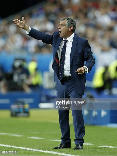 coach Fernando Santos of Portugal during the UEFA EURO 2016 final match between Portugal and France on July 10 2016 at the Stade de France in Paris...