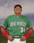 Coach Fernando Valenzuela of Mexico poses for a portrait during Photo Day for the World Baseball Classic on March 5 2006 in Tucson Arizona