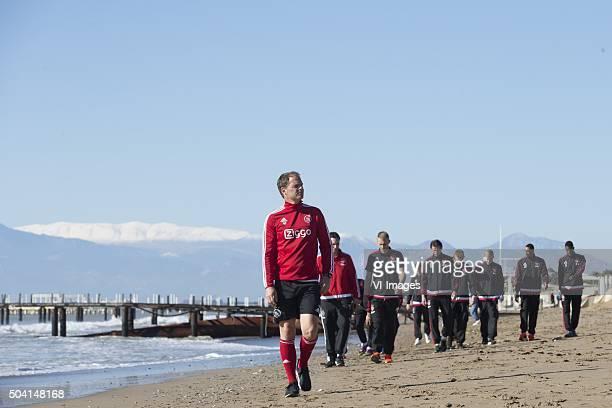 coach Frank de Boer of Ajax beach walk during the training camp of Ajax Amsterdam on January 9 2016 at Belek Turkey