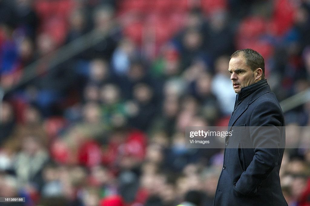 coach Frank de Boer of Ajax during the Dutch Eredivisie match between Ajax Amsterdam and Roda JC Kerkrade at the Amsterdam Arena on february 10, 2013 in Amsterdam, The Netherlands