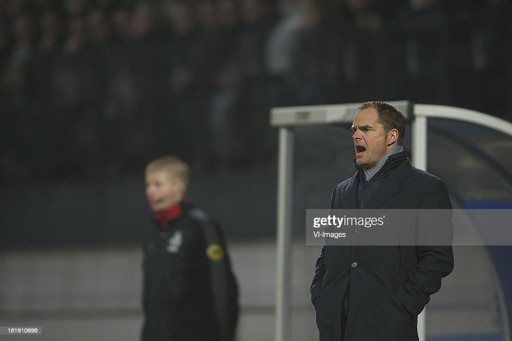coach Frank de Boer of Ajax during the Dutch Eredivisie match between RKC Waalwijk and Ajax Amsterdam at the Mandemakers Stadium on february 17, 2013 in Waalwijk, The Netherlands