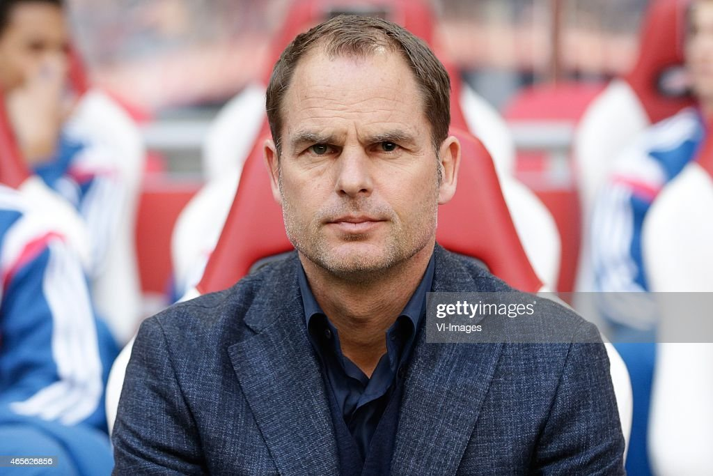 coach Frank de Boer of Ajax during the Dutch Eredivisie match between Ajax Amsterdam and Excelsior Rotterdam at the Amsterdam Arena on March 8, 2015 in Amsterdam, The Netherlands