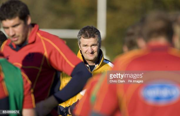 Coach Frank Hadden during a training session at Watsonians' Myreside Stand Pitch Edinburgh