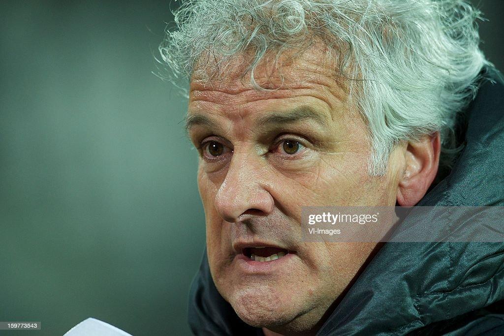coach Fred Ruttten of Vitesse during the Dutch Eredivise match between AZ Alkmaar and Vitesse Arnhem at the AFAS Stadium on January 19, 2013 in Alkmaar, The Netherlands.