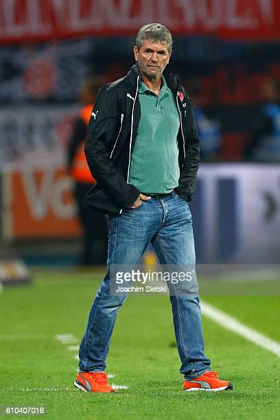 Coach Friedhelm Funkel of Duesseldorf after the Second Bundesliga match between Eintracht Braunschweig and Fortuna Duesseldorf at Eintracht Stadion...