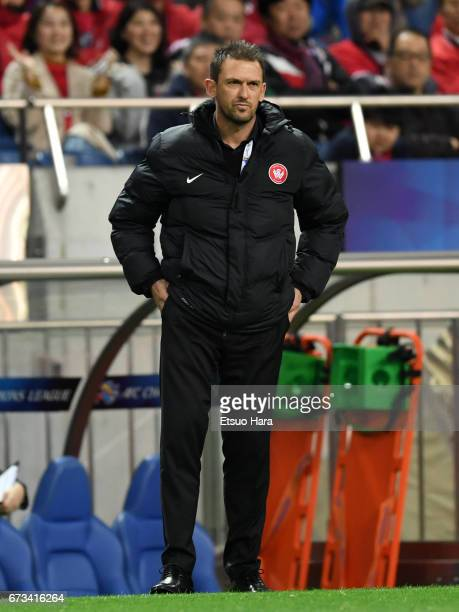 Coach Gavin Costelloe of Western Sydney looks on during the AFC Champions League Group F match between Urawa Red Diamonds and Western Sydney at...