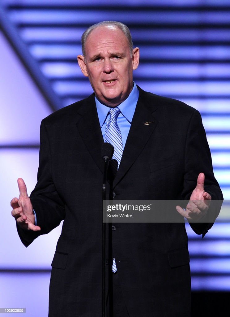 NBA coach <a gi-track='captionPersonalityLinkClicked' href=/galleries/search?phrase=George+Karl&family=editorial&specificpeople=204519 ng-click='$event.stopPropagation()'>George Karl</a> speaks onstage during the 2010 ESPY Awards at Nokia Theatre L.A. Live on July 14, 2010 in Los Angeles, California.