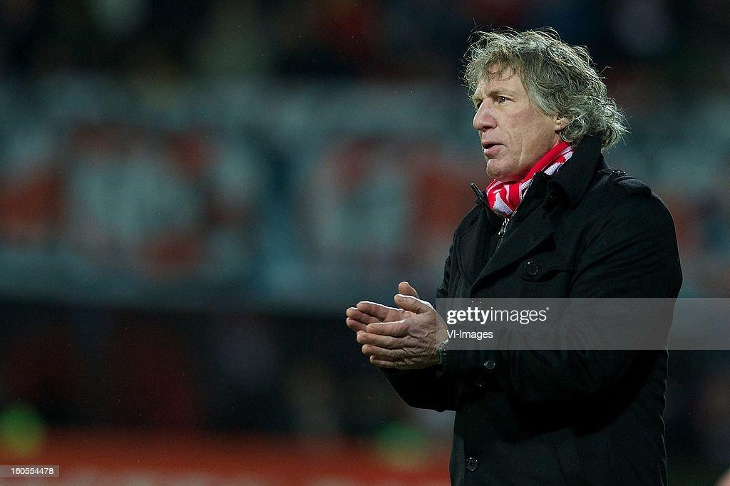 coach Gert Jan Verbeek of AZ during the Dutch Eredivisie match between AZ Alkmaar and FC Groningen at the AFAS Stadium on february 2, 2013 in Alkmaar, The Netherlands