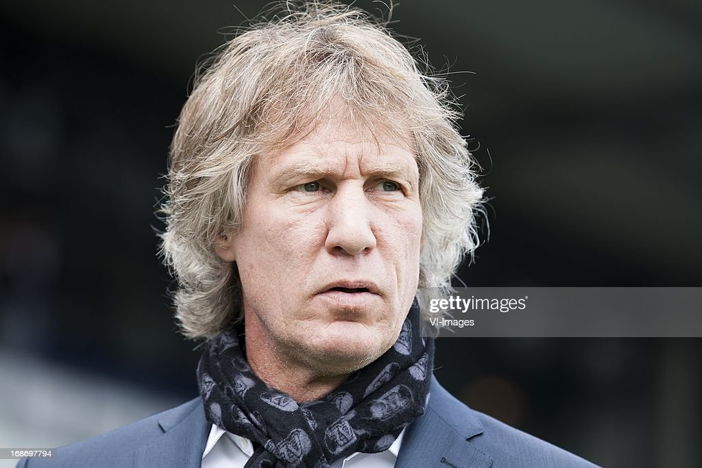 coach Gert Jan Verbeek of AZ during the Dutch Eredivisie match between Willem II and AZ Alkmaar on May 12, 2013 at the Koning Willem II stadium in Tilburg, The Netherlands.