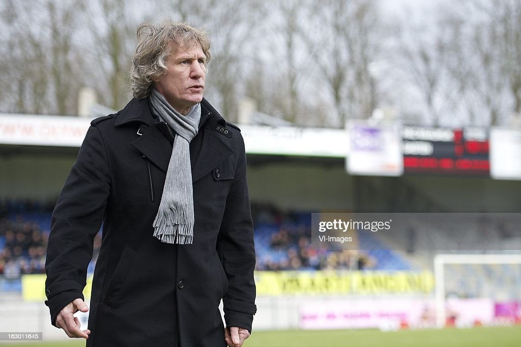 coach Gert Jan Verbeek of AZ during the Dutch Eredivisie match between RKC Waalwijk and AZ Alkmaar at the Mandemakers Stadiumon march 03, 2013 in Waalwijk, The Netherlands