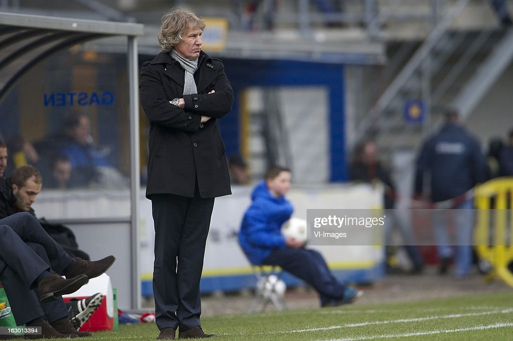 coach Gert Jan Verbeek of AZ during the Dutch Eredivisie match between RKC Waalwijk and AZ Alkmaar at the Mandemakers Stadiumon march 03, 2013 in Waalwijk, The Netherlands
