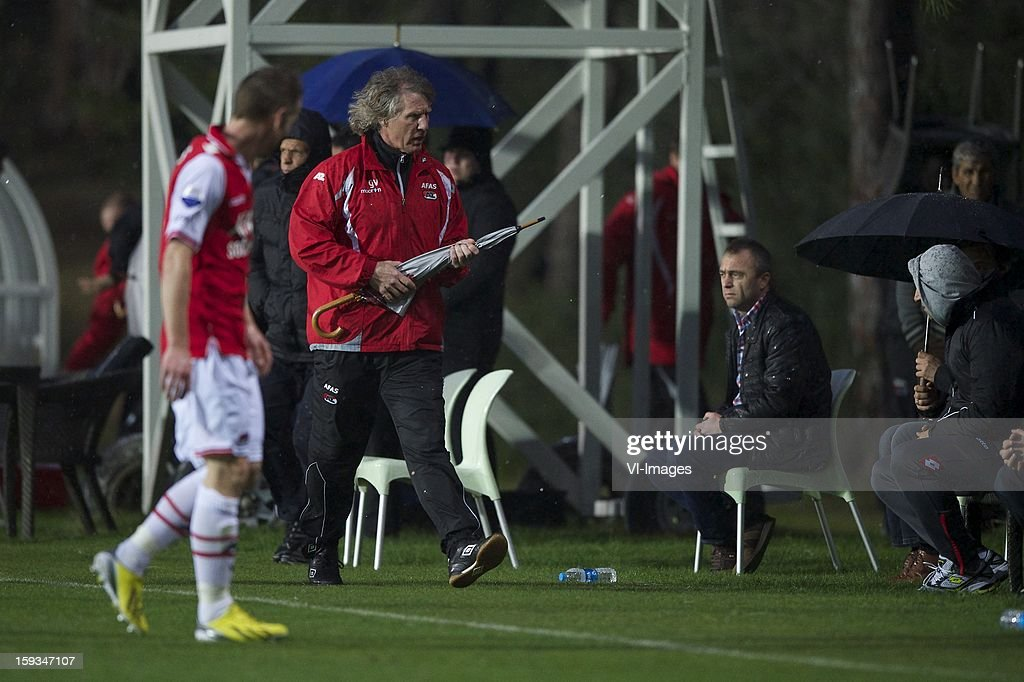 coach Gert Jan Verbeek of AZ during the friendly match between AZ Alkmaar and Genclerbirligi on January 12, 2013 at Belek, Turkey