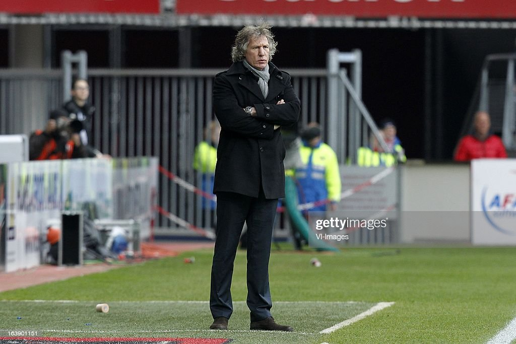 Coach Gertjan Verbeek of AZ during the Dutch Eredivisie match between AZ Alkmaar and Ajax Amsterdam at the AFAS Stadium on march 17, 2013 in Alkmaar, The Netherlands