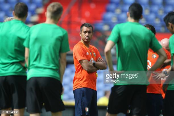 coach Giovanni van Bronckhorst during a training session at The Kuip on July 08 2017 in Rotterdam The Netherlands