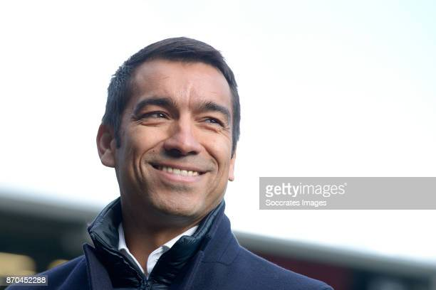 coach Giovanni van Bronckhorst of Feyenoord during the Dutch Eredivisie match between ADO Den Haag v Feyenoord at the Cars Jeans Stadium on November...