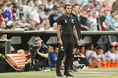Coach Giovanni van Bronckhorst of Feyenoord during the preseason friendly match between Feyenoord and Valencia on July 23 2016 at the Kuip in...