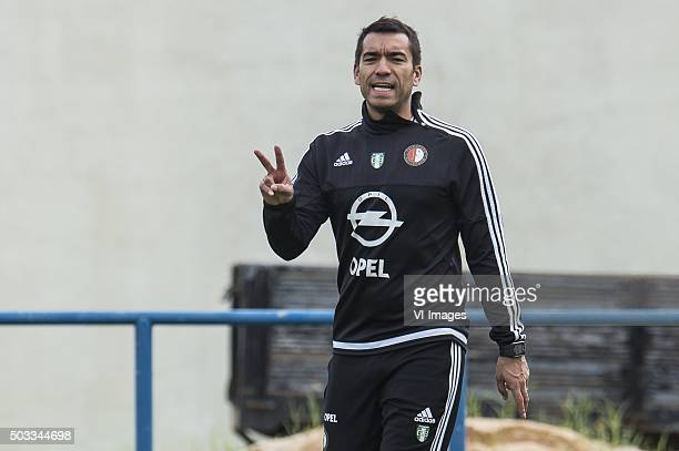 coach Giovanni van Bronckhorst of Feyenoord during the training camp of Feyenoord on January 4 2016 in Albufeira Portugal