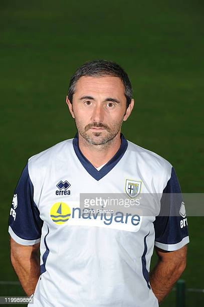 Coach goal kepeer of Parma Luca Bucci poses during the official Parma FC headshots session on July 28 2011 in Levico near Trento Italy