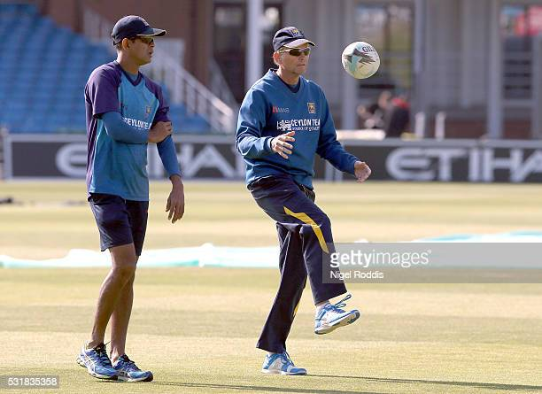 Coach Graham Ford of Sri Lanka during the Sri Lanka Nets session ahead of their 1st Investec Test match against England at Headingley on May 17 2016...