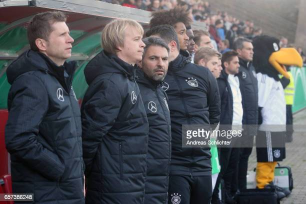 Coach Guido Streichsbier and Team of Germany during the U20 Germany vs U20 Switzerland International FriendlyMatch on March 23 2017 in Neunkirchen...