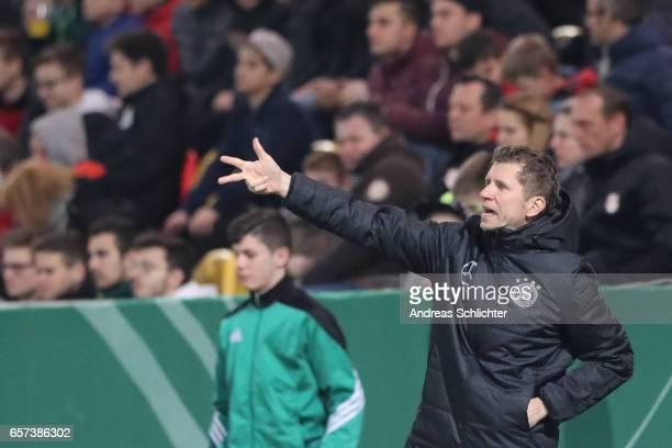 Coach Guido Streichsbier of Germany during the U20 Germany vs U20 Switzerland International FriendlyMatch on March 23 2017 in Neunkirchen Germany