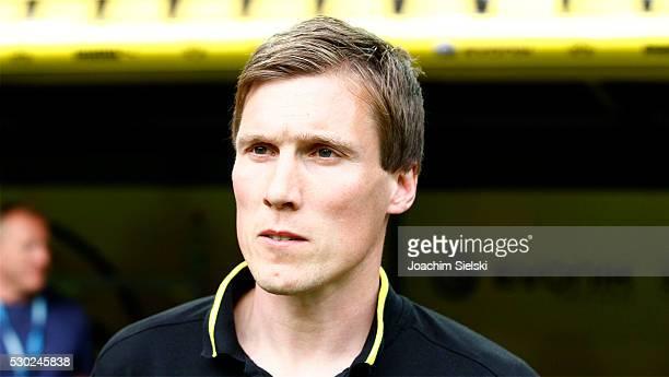 Coach Hannes Wolf of Dortmund before the German U19 Championship Semi Final First Leg match between Borussia Dortmund and 1860 Muenchen at Signal...