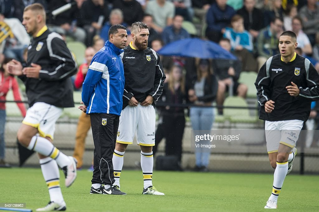 coach Henk Fraser of Vitesse, Guram Kashia of Vitesse during the first training session of the season 2016/2017 on June 26, 2016 at Papendal, The Netherlands