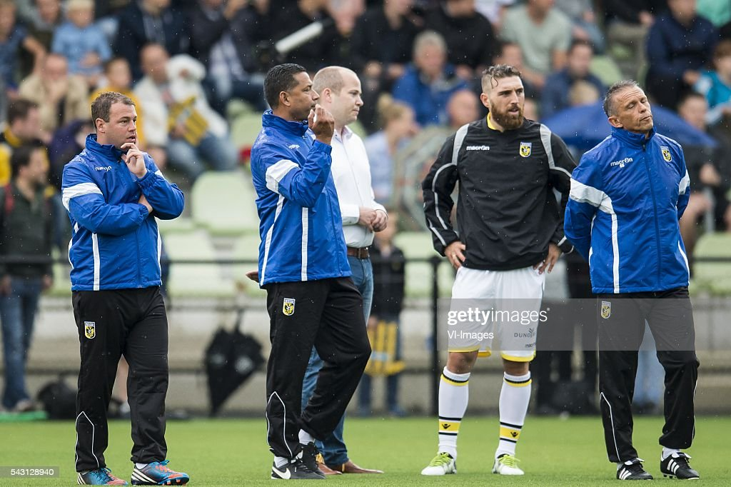 coach Henk Fraser of Vitesse tells his players to get inside during the first training session of the season 2016/2017 on June 26, 2016 at Papendal, The Netherlands