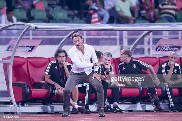 coach Herve Renard of Morocco during the Africa Cup of Nations match between Morocco and Sao Tome E Principe at September 4 2016 at the Complexe...