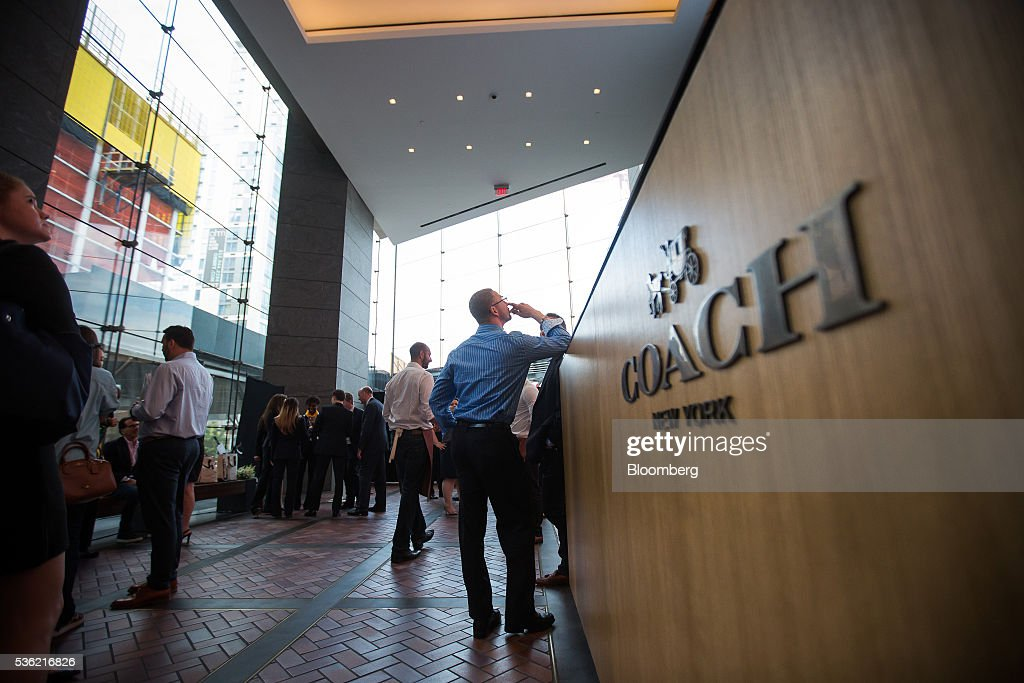 Coach Inc.'s signage is displayed at the company's new offices at 10 Hudson Yards in New York, U.S., on Tuesday, May 31, 2016. The first skyscraper at Related Cos.'s $25 billion Hudson Yards project opened Tuesday after three and a half years of construction, bringing office workers to a once-desolate area of Manhattan's far west side that's now transforming into a new business enclave. Photographer: Michael Nagle/Bloomberg via Getty Images