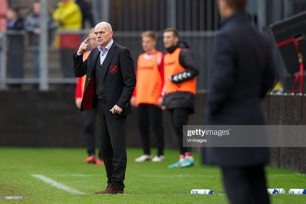 coach Jan Wouters of FC Utrecht during the Dutch Eredivise match between FC Utrecht and Ajax Amsterdam at the Galgenwaard on December 23, 2012 in Utrecht, The Netherlands.