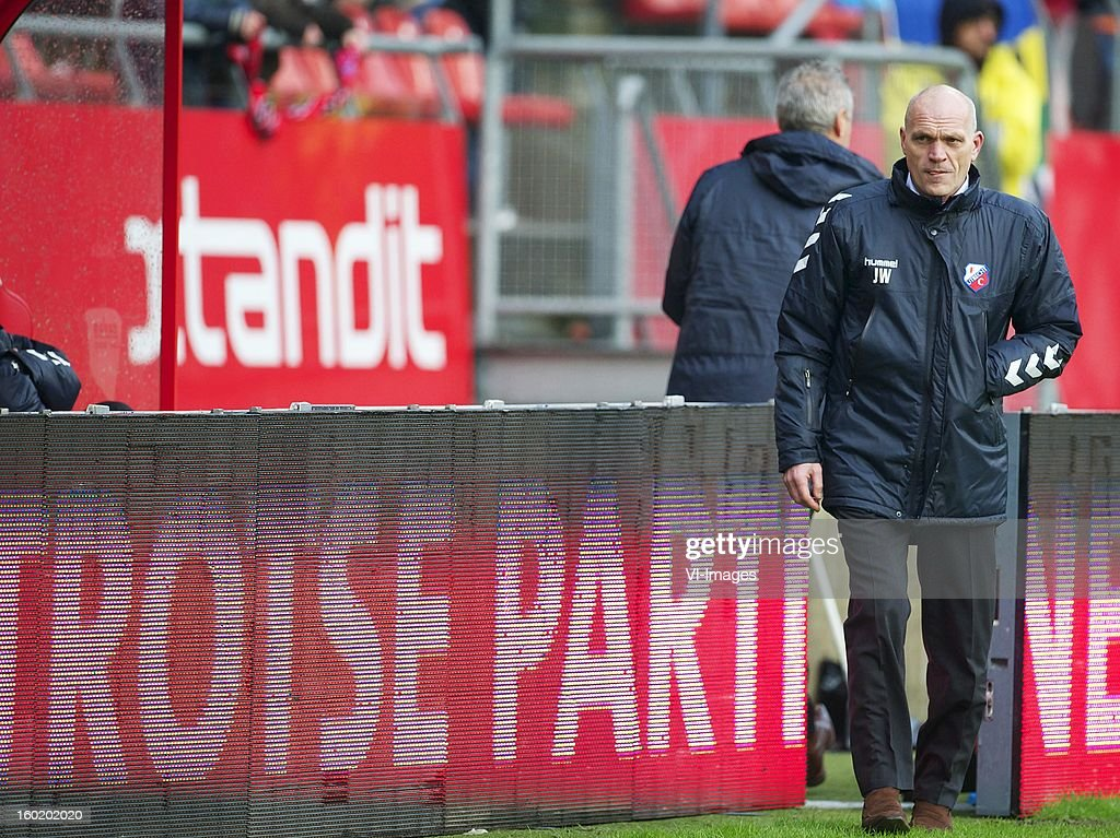 coach Jan Wouters of FC Utrecht during the Dutch Eredivise match between FC Utrecht and Willem II at the Galgenwaard Stadium on January 27, 2013 in Utrecht, The Netherlands.