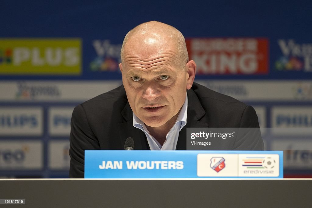 Coach Jan Wouters of FC Utrecht during the Dutch Eredivisie match between PSV Eindhoven and FC Utrecht at the Philips Stadium on february 16, 2013 in Eindhoven, The Netherlands