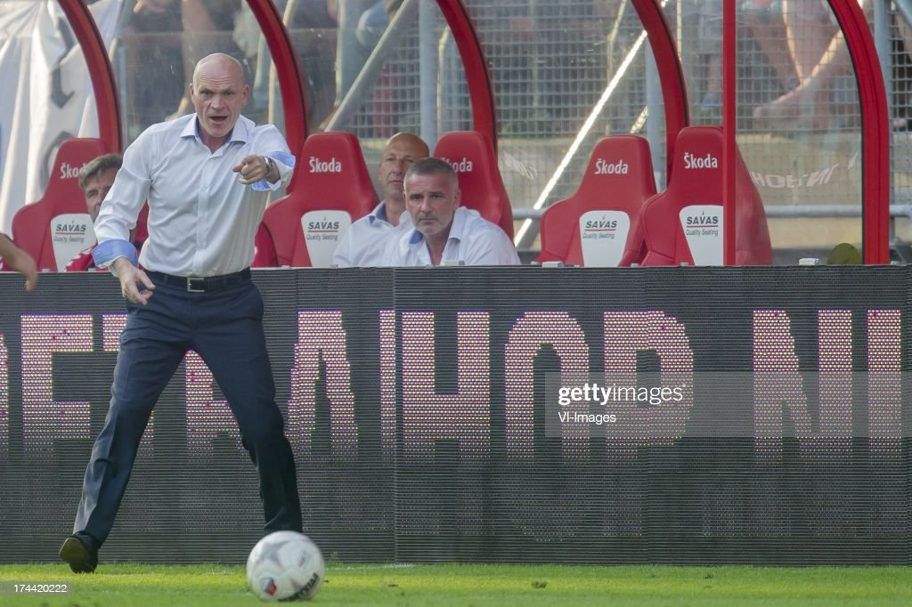 coach Jan Wouters of FC Utrecht during the Europa League second qualifying round match between FC Utrecht and FC Differdange on July 25, 2013 in Utrecht, The Netherlands.