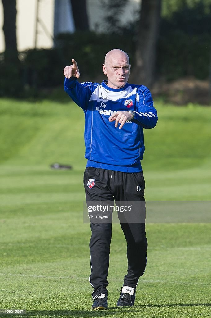 coach Jan Wouters of FC Utrecht during the training camp of FC Utrecht on January 11, 2013 at Almancil, Portugal.