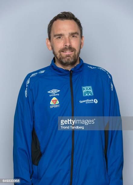 Coach Joakim Klaeboe of Team Kristiansund BK on March 7 2017 in Kristiansund Norway
