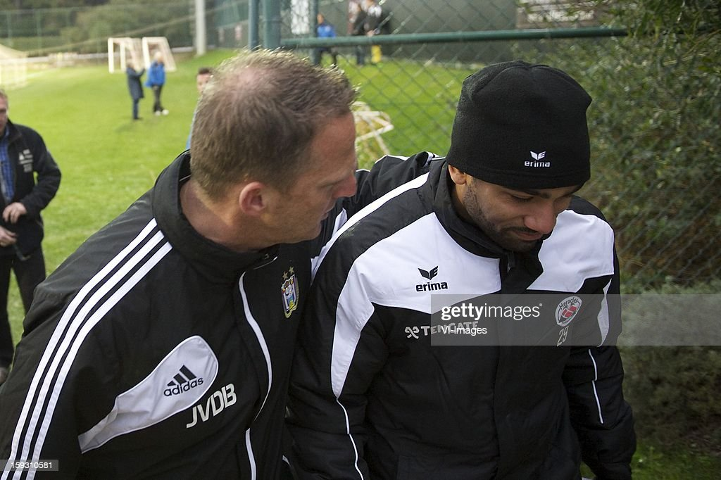 coach John van den Brom of rsc Anderlecht, Samuel Armenteros of Heracles Almelo during the match between Heracles Almelo and RSC Anderlecht on January 11, 2013 at Belek, Turkey.