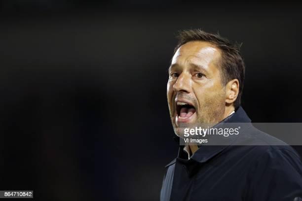 coach John van 't Schip of PEC Zwolle during the Dutch Eredivisie match between NAC Breda and PEC Zwolle at the Rat Verlegh stadium on October 21...