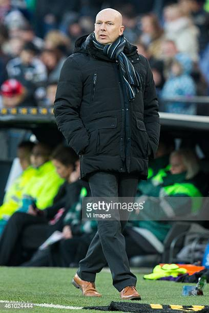 coach Joop Gall of FC Emmen during the friendly match between Feyenoord and FC Emmen on January 4 2014 at the Kuip stadium in Rotterdam The...